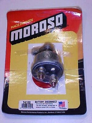 Moroso 74100 Battery Disconnect Rotary Switch_20 AMP_Decals_Made In USA_Sealed