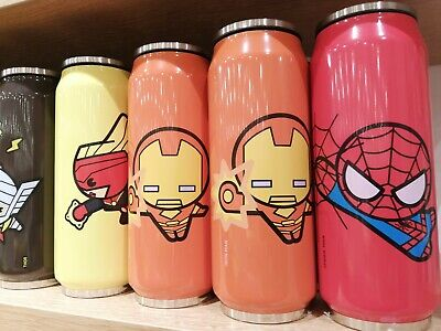 Marvel Avengers Sports Outdoor Drinking Water Bottles Stanless Steel Straw lid