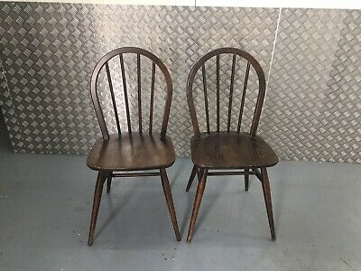 Two Ercol Vintage Retro Mid Century Chairs