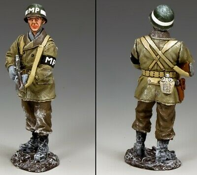 King & Country Battle Of The Bulge Bba085 Standing U.s. Military Policeman Mib