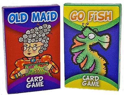 Go Fish 3-Pack Kids Card Games Old Maid Crazy Eights