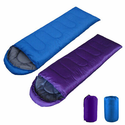Adult Single Sleeping Bag 3 Season Camping Travel Outdoor Cotton Envelope Warm
