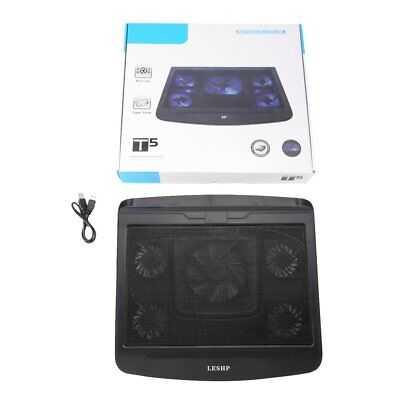 Unique Two Switches 5 Big Fan USB Interface Cooler Notebook Cooling Pads T5 AWS