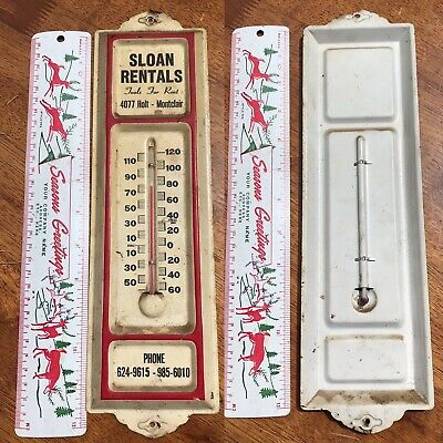 Vtg Sloan Rentals Tools Montclair CA thermometer ~ auto gas oil sign (snap-on)