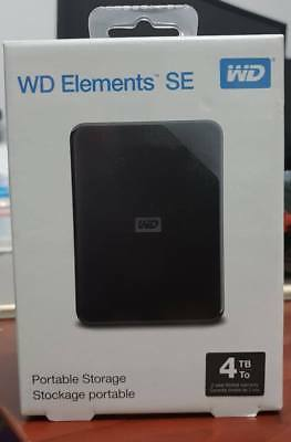 WD 4TB Elements SE Portable Hard Drive Black