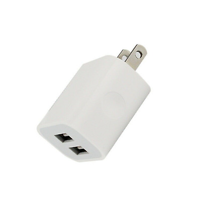 AC Wall Outlet USA US CA Travel Adapter Plug Dual USB Socket 2 Slot Home Charger