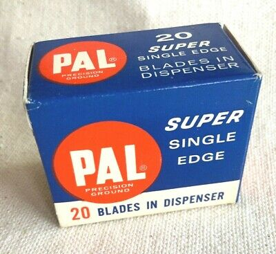 Vintage PAL Super Single Edge Razor Blades New Old Stock 1 Pack of 20 Blades
