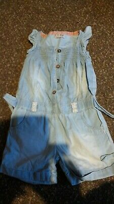 Girls NEXT Pale Denim Summer Shortie Playsuit/All In One Age 2-3 Years
