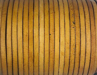 Flat 4mm Quality Antique Natural Leather Cord Lace 50m Jewellery Making Cord