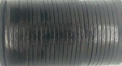 Flat 3mm Brown Leather Cord Lace 50m Jewellery Making Cord