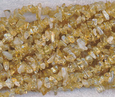 "Citrine Chip Gemstone  Beads Approx 32"" Strand"