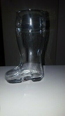 """Das Boot Boot Beer Glass Large 8"""" TALL High Quality Clear Beer Mug FREE SHIPPING"""