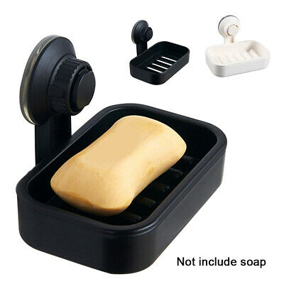 Strong Suction Cup Shower Soap Dish Wall Holder Basket Bathroom Kitchen Sink