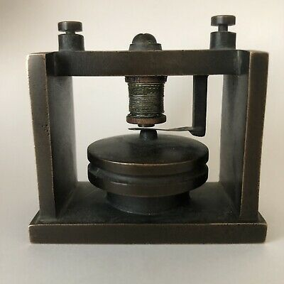 UNKNOWN Steampunk Estate Antique Old HEAVY Brass Coil Electrical Part Free Ship