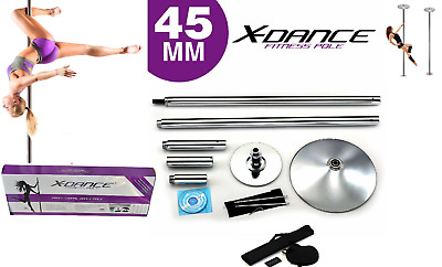 X Dance Pole Static Spinning Exotic Stripper 9 FT Dance Portable Fitness Party