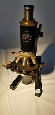 Carl Zeiss Jena Antique Microscope with rotating stage