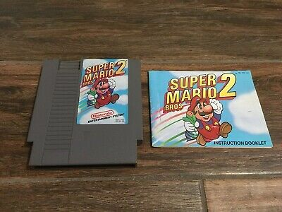 Super Mario Bros. 2 (1988) NES Cart Only With Manual No Box TESTED & WORKS!!!