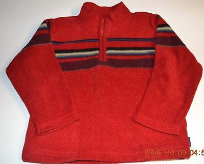 Toddler Boy Size 4T Shirt Long Sleeve Red Polyester Fleece With Pockets Old Navy