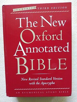 OXFORD NRSV ANNOTATED Bible w/Apocrypha (1991 Edition) bound