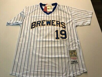 save off 1f186 e8c05 NEW!!! MILWAUKEE BREWERS ROBIN YOUNT #19 White Vintage ...