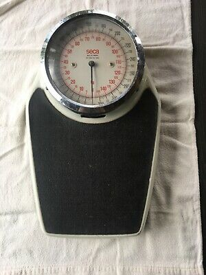 Vintage SECA Mechanical Bathroom Scale 145 KG / 320 LB Made in Germany - White