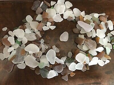 Sea Glass Smooth Edges White Brown Green - Good Luck Love Mermaid Magic Wicca