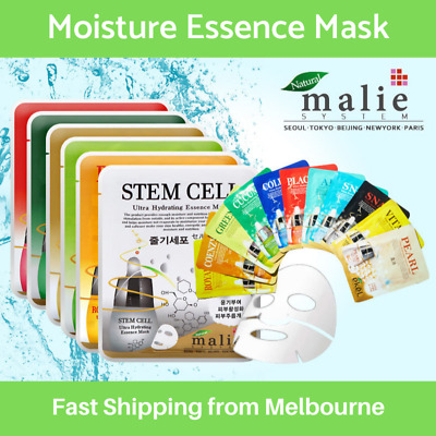 16 Type Moisture Essence Face Mask Sheet Collagen Facial Skin Care K-Beauty