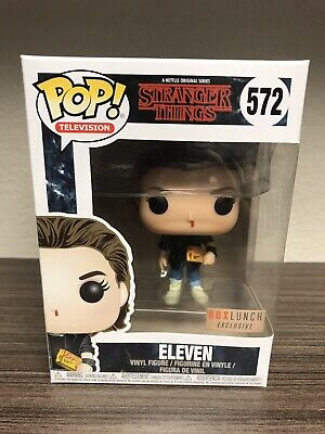Funko Pop Stranger Things Eleven 572 With Eggos Box Lunch Exclusive