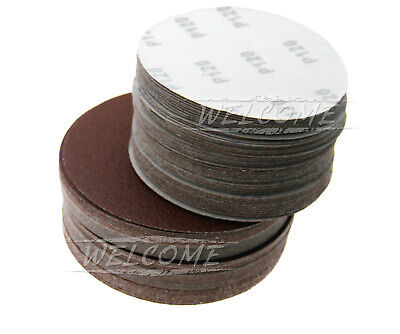 50 x 125/150mm Round 5 Mixed Grit Sanding Sandpaper Circle Sand Disc No Hole