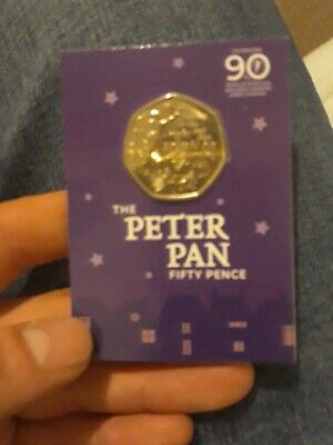 2019 - 50p PETER PAN - SEALED B.UNCIRCULATED - Isle of Man. Limited mintage