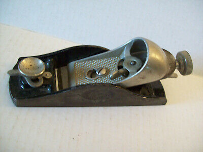 "Vintage 6-3/4"" Metal Wood Working Plane Made in USA small heavy"