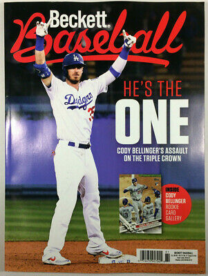 New August 2019 Beckett Baseball Card Price Guide Magazine With Cody Bellinger