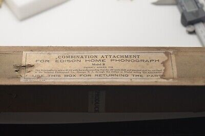 Edison Home Phonograph Combination Attachment in Original Box, Model B