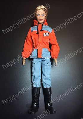 Ken Doll Men's Fire Fighter Camping Suit Outfit Clothes & Tall Boots Barbie New