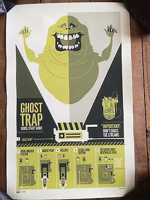 Ghostbusters art print 12/15 movie poster Gallery 1988 Tom Whalen Mondo