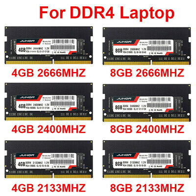 8GB/4GB DDR4 PC4 2133MHz 2400MHz 2666MHz Laptop Memory RAM SODIMM 260Pin 1.2V