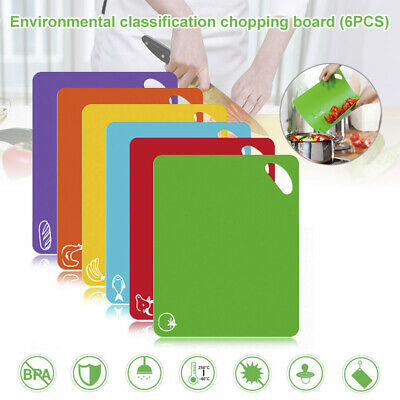 6 Colors Catering Chopping Boards Professional Cutting Kitchen Boards