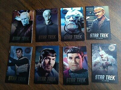 Dave & Busters Star Trek Aliens 2019 card lot complete set of 8