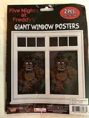 FIVE NIGHTS AT FREDDY'S GIANT WINDOW POSTERS (2) ~ Birthday Party