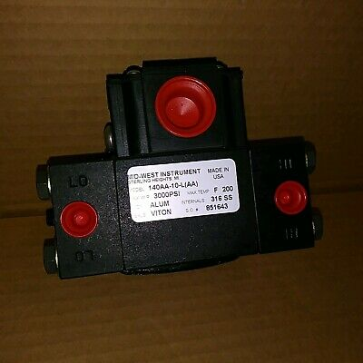 Mid-West Instrument 140AA-10-L(AA) Pressure Switch - New