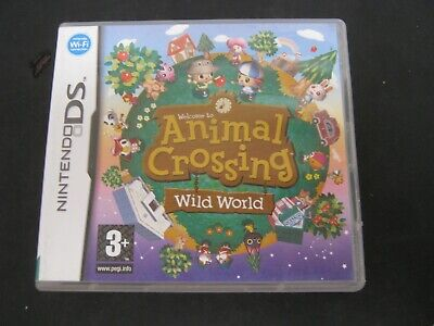 Nintendo DS Pal Game ANIMAL CROSSING WILD WORLD with Box Manual