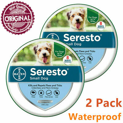 Bayer Seresto Flea and Tick Collar for Small Dog,Quick Treatment,Harmless-2 PACK