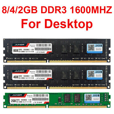 8GB 2GB 4GB DDR3 Memory RAM Desktop 1600MHZ PC3-12800U 240 pin non-ECC UK