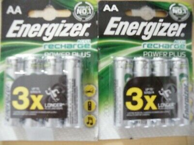 Energizer AA Rechargeable Power Plus Batteries 2000 MAH Pack of 4 + CHARGEUR