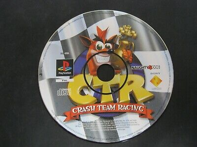 PS1 Playstation 1 Pal Game Disc Only CTR CRASH TEAM RACING