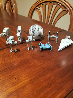 Star Wars Galoob Micro Machines Lot of Vehicles With Death Star And Tie Bomber