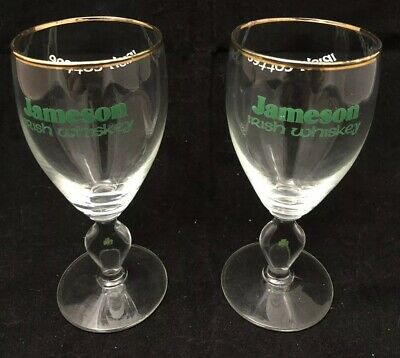 Pair of Vintage Jameson Irish Whiskey Irish Coffee Glasses. Good Condition. Rare