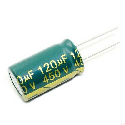 120uF 450V High Frequency LOW ESR Radial Electrolytic Capacitors 105C 18x31mm