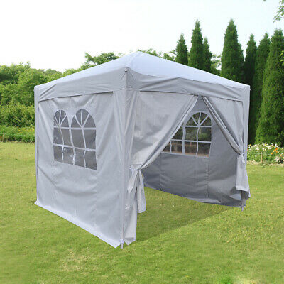 Heavy Duty 2.5x2.5m Pop Up Gazebo Waterproof Garden Outdoor Party Tent Carry Bag
