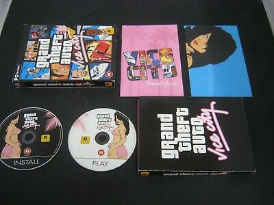PC-CD ROM Pal Game GRAND THEFT AUTO VICE CITY with Box Manual